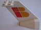 Part No: 4867pb10  Name: Tail Wedge with Iberia Logo Pattern on Both Sides (Stickers)