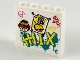 Part No: 49311pb11  Name: Brick 1 x 4 x 3 with Monkie Kid Logo, Graffiti and Taped Note with Chinese Logogram '新' (New) Pattern (Sticker) - Set 80012