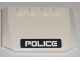 Part No: 52031pb013  Name: Wedge 4 x 6 x 2/3 Triple Curved with White 'POLICE' on Black Stripe Pattern (Sticker) - Set 5971