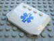 Part No: 52031pb022  Name: Wedge 4 x 6 x 2/3 Triple Curved with Blue EMT Star of Life Pattern (Sticker) - Set 7890
