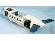 Part No: 52917c01  Name: Duplo Airplane Large Fuselage with Very Light Bluish Gray Lower Section, Dark Bluish Gray Inner Base and Dark Blue Horizontal Tail