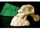 Part No: 53565pb01  Name: Bionicle Head Connector Block (Piraka) with Glow In Dark Teeth Pattern