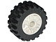 Part No: 55981c02  Name: Wheel & Tire Assembly 18mm D. x 14mm with Pin Hole, Fake Bolts and Shallow Spokes with Black Tire 30.4 x 14 Offset Tread (55981 / 30391)