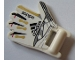 Part No: 57099pb01L  Name: Minifigure, Utensil Soccer Goalie Mitt with Finger Pattern on Both Sides and Adidas Logos Left (Stickers) - Set 3573