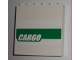 Part No: 59349pb005  Name: Panel 1 x 6 x 5 with White 'CARGO' on Green Stripe Pattern (Sticker) - Set 7733