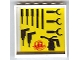 Part No: 59349pb029  Name: Panel 1 x 6 x 5 with Tools Pattern #1 on Inside (Sticker) - Set 8161