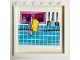 Part No: 59349pb189  Name: Panel 1 x 6 x 5 with Cupboard, Tiles, Towel, Oven Mitt and Kitchen Utensils Pattern on Inside (Sticker) - Set 41314