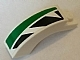 Part No: 6005pb008L  Name: Brick, Arch 1 x 3 x 2 Curved Top with Green and Black Pattern Model Left Side (Sticker) - Set 8864