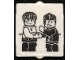 Part No: 60601pb030  Name: Glass for Window 1 x 2 x 2 Flat Front with Minifigures Shaking Hands Pattern (Sticker) - Set 70657