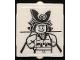 Part No: 60601pb031  Name: Glass for Window 1 x 2 x 2 Flat Front with Ninja Minifigure Posing Pattern (Sticker) - Set 70657