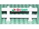 Part No: 6079pb01  Name: Fence 1 x 8 x 2 2/3 with Octan Logo Pattern (Sticker) - Set 6551