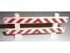 Part No: 6079pb02  Name: Fence 1 x 8 x 2 2/3 with Red and White Danger Stripes Pattern (Stickers)