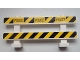 Part No: 6079pb06  Name: Fence 1 x 8 x 2 2/3 with Black 'POLICE' on Black and Yellow Danger Stripes Pattern (Stickers) - Set 60007
