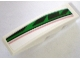 Part No: 61678pb008L  Name: Slope, Curved 4 x 1 No Studs with Red, Black and Green Pattern, Model Left (Sticker) - Set 8898