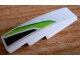 Part No: 61678pb134L  Name: Slope, Curved 4 x 1 with Green and Black Pattern Model Left Side (Sticker) - Set 8864