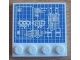 Part No: 6179pb050  Name: Tile, Modified 4 x 4 with Studs on Edge with Blueprints Pattern (Sticker) - Set 8424