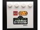 Part No: 6179pb087  Name: Tile, Modified 4 x 4 with Studs on Edge with Lego Star Wars Logo and Anaheim 2015 Star Wars Celebration Pattern