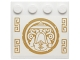 Part No: 6179pb094  Name: Tile, Modified 4 x 4 with Studs on Edge with Gold Round Sensei Wu Emblem and Geometric Designs Pattern (Sticker) - Set 70734