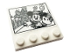 Part No: 6179pb202  Name: Tile, Modified 4 x 4 with Studs on Edge with Mickey & Minnie Mouse and Castle Pattern (Sticker) - Set 43179