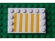 Part No: 6180pb036  Name: Tile, Modified 4 x 6 with Studs on Edges with Medium Orange Vertical Stripes Pattern (Sticker) - Set 5847