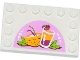 Part No: 6180pb069  Name: Tile, Modified 4 x 6 with Studs on Edges with Drinks Pattern (Sticker) - Set 41035