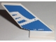Part No: 6239pb023  Name: Tail Shuttle with White Airline Bird and 'LC - 3222' Pattern on Both Sides (Stickers) - Set 3222