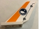 Part No: 6239pb069  Name: Tail Shuttle with Arctic Logo and Orange Stripe Pattern on Both Sides (Stickers) - Set 60064