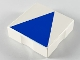 Part No: 6309p09  Name: Duplo Tile 2 x 2 with Shape Blue Isosceles Triangle Pattern