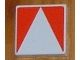 Part No: 6309p0u  Name: Duplo Tile 2 x 2 with Shape Red Inverse Isosceles Triangle Pattern