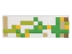 Part No: 63864pb046  Name: Tile 1 x 3 with Pixelated Green, Lime, Tan and Yellow Pattern (Minecraft Iron Golem)