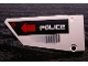Part No: 64392pb004  Name: Technic, Panel Fairing #17 Large Smooth, Side A with 'POLICE' and 'CAUTION HOT SURFACE' Pattern (Sticker) - Set 5973