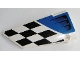 Part No: 64392pb015  Name: Technic, Panel Fairing #17 Large Smooth, Side A with Air Intake and Checkered Black and White Pattern (Sticker) - Set 42045