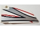Part No: 64392pb024  Name: Technic, Panel Fairing #17 Large Smooth, Side A with Black, Red and Silver Stripes Pattern (Sticker) - Set 42000