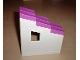 Part No: 6463c02  Name: Duplo Building Wall 2 x 6 x 6 with Window Right and Dark Pink Roofpiece Slope 33 2 x 6 Shingled Stepped