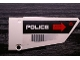 Part No: 64682pb004  Name: Technic, Panel Fairing #18 Large Smooth, Side B with 'POLICE' and 'CAUTION HOT SURFACE' Pattern (Sticker) - Set 5973