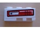 Part No: 6565pb07  Name: Wedge 3 x 2 Left with Red and Black Taillight Pattern (Sticker) - Set 8286