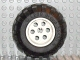Part No: 6595c01  Name: Wheel 36.8mm D. x 26mm VR with Axle Hole with Black Tire 56 x 30 R Balloon (6595 / 32180)