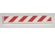 Part No: 6636pb020R  Name: Tile 1 x 6 with Red and White Danger Stripes Pattern Right (Sticker) - Set 7592