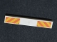 Part No: 6636pb104  Name: Tile 1 x 6 with Orange and Yellow Danger Stripes Pattern (Stickers) - Set 7747