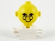 Part No: 685px2c01  Name: Homemaker Figure Torso Assembly and Yellow Head with Eyes, Glasses and Smile Pattern