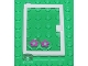 Part No: 73436c01pb06  Name: Door 1 x 4 x 5 Left with Trans-Clear Glass and Flowers Pattern (Sticker) - Set 6418