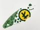 Part No: 73487  Name: Cloth Sail Triangular 5 x 17 with Dark Green Hexagons and Ninjago Logogram 'L71745' Pattern