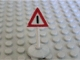 Part No: 747p01c01  Name: Road Sign Old Triangle with Generic Warning Pattern & Type 1 Base