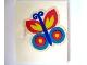Part No: 838pb08  Name: Homemaker Cupboard Door 4 x 4 with Butterfly Pattern (Sticker) - Set 292