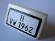 Part No: 85984pb003  Name: Slope 30 1 x 2 x 2/3 with Black 'H VW 1962' Pattern (Sticker) - Set 10220