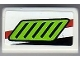 Part No: 85984pb022L  Name: Slope 30 1 x 2 x 2/3 with Lime Air Intake Pattern Model Left (Sticker) - Set 8899