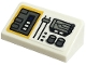 Part No: 85984pb284  Name: Slope 30 1 x 2 x 2/3 with Yellow and White Control Panel Pattern (Sticker) - Set 75290