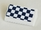 Part No: 85984pb305  Name: Slope 30 1 x 2 x 2/3 with Black and White Checkered Pattern (Sticker) - Set 41348