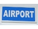 Part No: 87079pb0059  Name: Tile 2 x 4 with White 'AIRPORT' on Blue Background Pattern (Sticker) - Set 3182