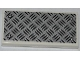 Part No: 87079pb0100  Name: Tile 2 x 4 with Tread Plate and 4 Silver and White Rivets Pattern (Sticker) - Sets 4205 / 4430 / 60004
